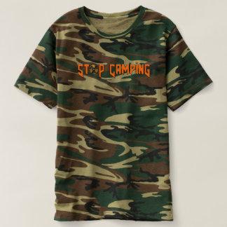 Stop Camping You Noob v4 Camo T-Shirt