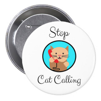 Stop Cat Calling, Feminism and Women's Rights 3 Inch Round Button