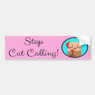 Stop Cat Calling, Feminism and Women's Rights Bumper Sticker