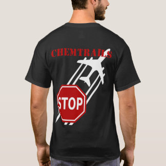 Stop Chemtrails dark tshirt