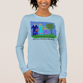Stop Child Abuse! - Smiley Crayon Faces Long Sleeve T-Shirt