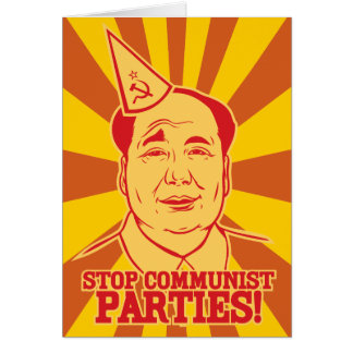 Stop Communist Parties Chairman Mao Card