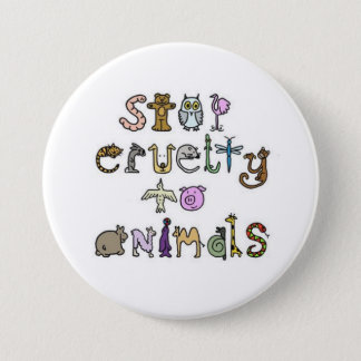 stop cruelty to animals - Customized 3 Inch Round Button