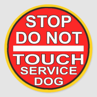 Stop - Do Not Touch Round Sticker