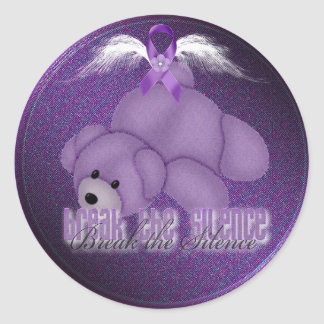 stop domestic abuse bear sticker