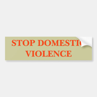 STOP DOMESTIC VIOLENCE BUMPER STICKER