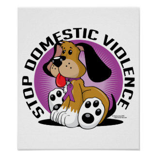 Stop Domestic Violence Dog Poster