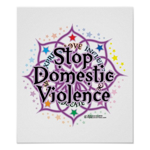 Stop Domestic Violence Lotus Posters