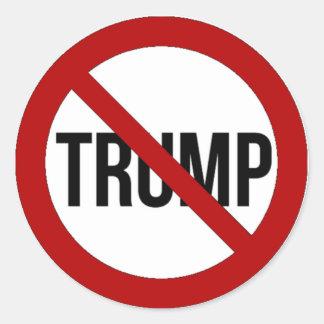 Stop Donald Trump Anti-Trump 2016 Classic Round Sticker