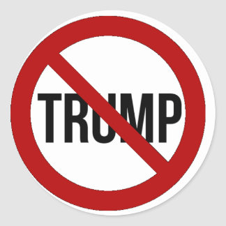 Stop Donald Trump Anti-Trump 2016 Round Sticker