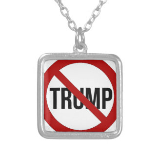 Stop Donald Trump Anti-Trump 2016 Silver Plated Necklace