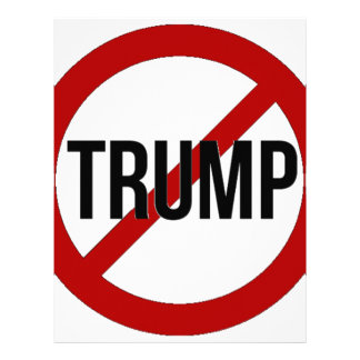 Stop Donald Trump Anti-Trump Letterhead