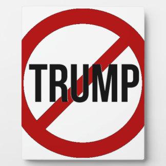 Stop Donald Trump Anti-Trump Plaque