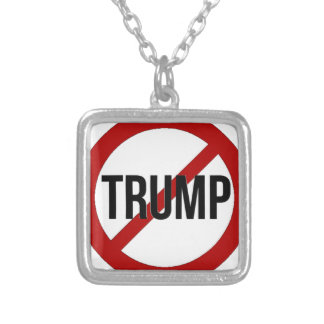 Stop Donald Trump Anti-Trump Silver Plated Necklace