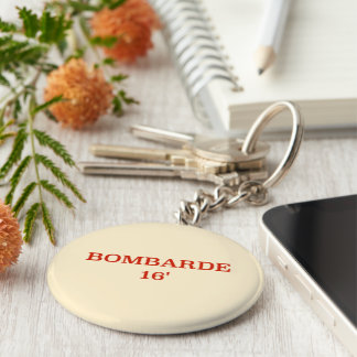 Stop! Don't forget your keys. Basic Round Button Keychain