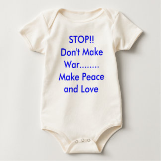 STOP!!Don't Make War........Make Peace and Love Romper
