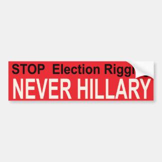 STOP ELECTION RIGGING BUMPER STICKER