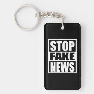 Stop Fake News Keychain