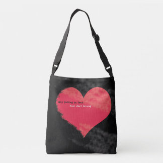 stop falling in love Cross-body bag