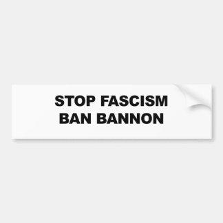 Stop Fascism, Ban Bannon Bumper Sticker