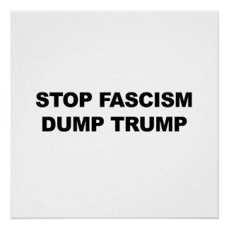 Stop Fascism, Dump Trump, protest sign