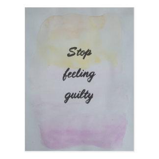 Stop Feeling Guilty Postcard