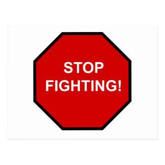 Stop Fighting Postcard
