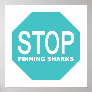 Stop Finning Sharks Sign