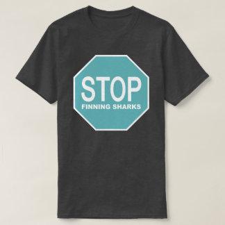 Stop Finning Sharks Sign T-Shirt