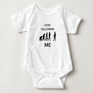 stop following me baby bodysuit