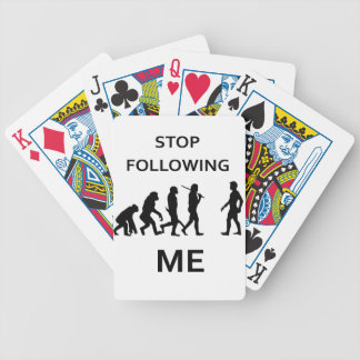 stop following me bicycle playing cards