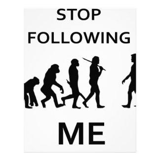 stop following me letterhead
