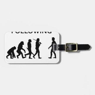 stop following me luggage tag