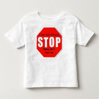 Stop Food Allergies Toddler Tshirt