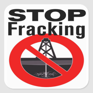 Stop Fracking Everywhere Square Sticker