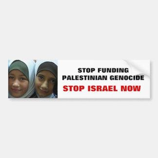STOP FUNDING PALESTINIAN GENOCIDE BUMPER STICKER