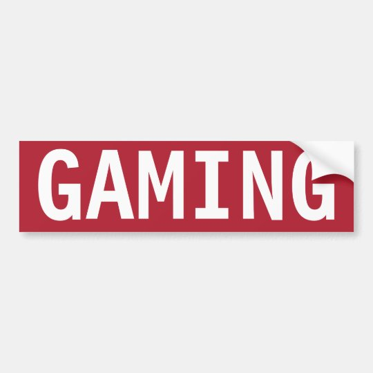 STOP GAMING BUMPER STICKER