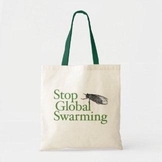 Stop Global Swarming Budget Tote Bag