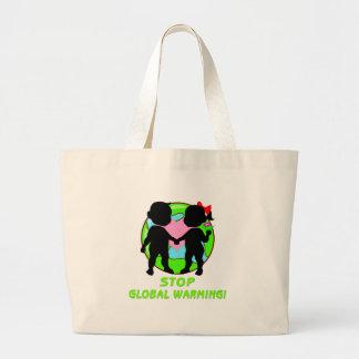 Stop Global Warming Jumbo Tote Bag