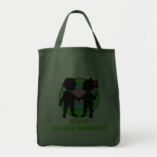 Stop Global Warming Canvas Bags