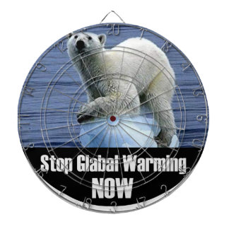 Stop Global Warming Now Dartboard
