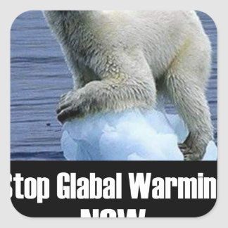 Stop Global Warming Now Square Sticker