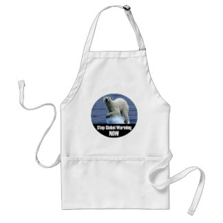 Stop Global Warming Now Standard Apron