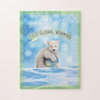 Stop Global Warming Polar Bear Puzzle