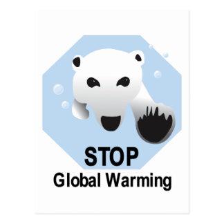 Stop Global Warming Postcard