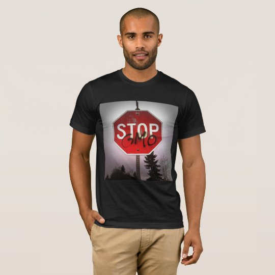 Stop GMO's Stop Sign Men's Shirt