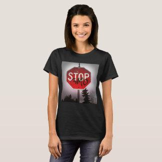Stop GMO's Stop Sign Woen's Shirt