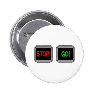 Stop Go 2 Inch Round Button