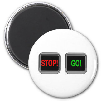 Stop Go 2 Inch Round Magnet