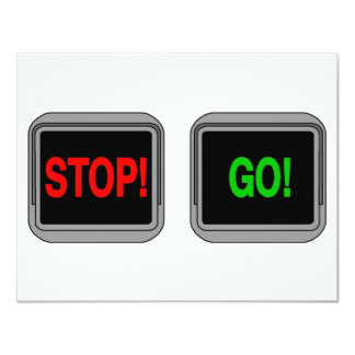 "Stop Go 4.25"" X 5.5"" Invitation Card"